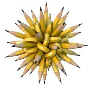 Tangled pencils