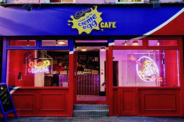 creme egg cafe pr agency stunt
